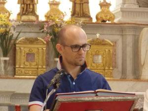 Il m° Matteo Cesarotto, durante la S. Messa.
