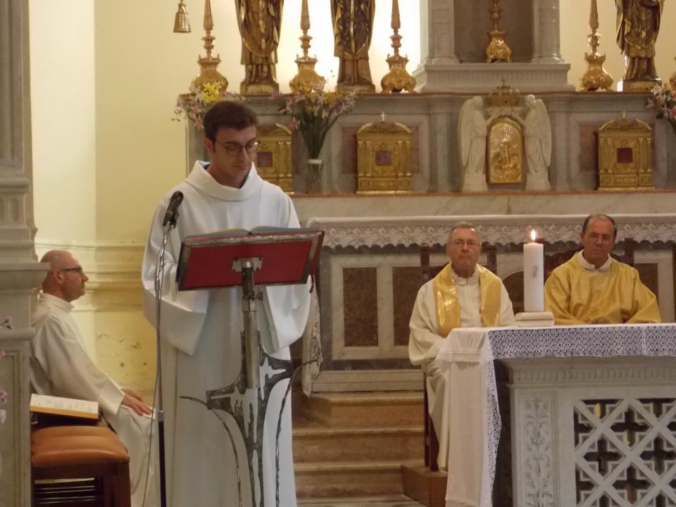 Un momento della S. Messa.