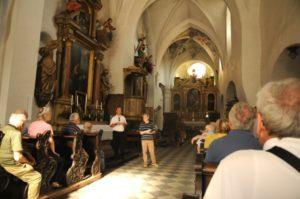 Mons. Fistill Ulrich e il M° Comploi illustrano la storia della Madonna del Chiostro (21 luglio).