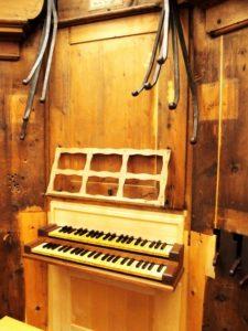 La consolle dell'organo Herz/Ahrend (21 luglio).