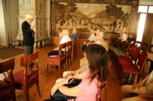 Un momento della visita al Museo Vescovile di Bressanone (22 luglio).