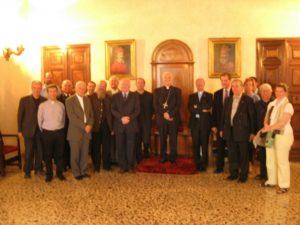 I partecipanti in udienza dal Vescovo di Vicenza, S.E. Mons. Beniamino Pizziol.