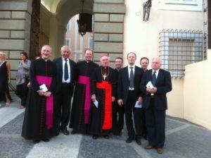 Castel Gandolfo - Alcuni membri del Consiglio Direttivo con il Card. W. Brandmüller e Mons. G. Sciacca