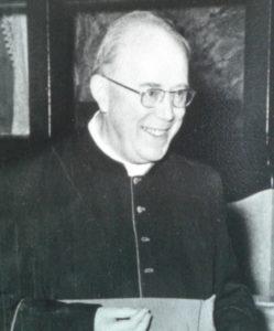 M° Mons. Celestino Eccher <br> Dir. Segr. Istituti Diocesani Musica Sacra 1950-1951