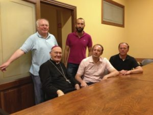 Il Presidente Mons. Cola e alcuni Membri del Consiglio in visita di cortesia a S.E. Mons. Bertelli.