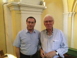 Il M° Nosetti con messieur Bracco, Presidente della locale Associazione amici dell'Organo, Saint Tropez (26 luglio).