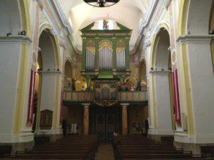 L'organo della chiesa parrocchiale di Saint Tropez (26 luglio).