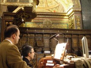 Malta, 16 novembre 2010 La Valletta, concattedrale di San Giovanni. Alcuni momenti del concerto.