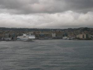 Napoli, 17 novembre 2010 Arrivo al porto.