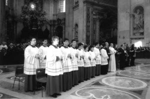 I Chierichetti del PreSeminario S. Pio X del Vaticano che hanno svolto un lodevole servizio liturgico nelle celebrazioni del Congresso.