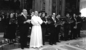 Basilica S. Pietro – Vaticano: Celebrazione Eucaristica (prima fila da sinistra: M. Poltronieri, C. Mariani, D. Ventura, M. Nosetti, R. Di Paola, G. Domeneghetti), 26 Novembre 2006.