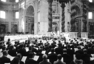 Basilica S. Pietro - Vaticano: S. Messa animata dalle Scholae Cantorum (26 Novembre 2006).