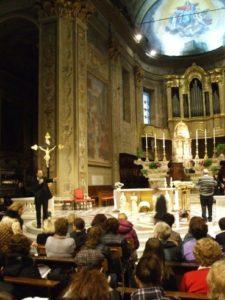 Savona, 18 novembre 2010 Cattedrale, prove di canto prima della S. Messa conclusiva, presieduta da S. E. Mons. Vittorio Lupi.