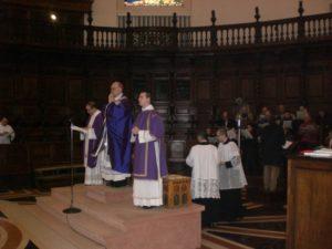 Celebrazione Eucaristica in S. Maria degli Angeli, presiede S.E. Mons. Luciano Giovannetti, Vescovo di Fiesole.
