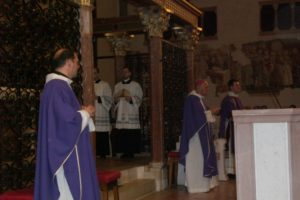 Celebrazione Eucaristica in S. Chiara, presiede S.E. Mons. Domenico Sorrentino, Arcivescovo - Vescovo di Assisi, Nocera Umbra, Gualdo Tadino.