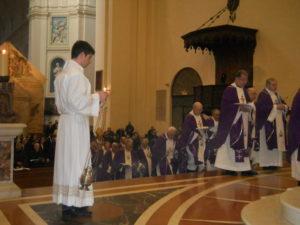 Celebrazione Eucaristica in S. Maria degli Angeli.