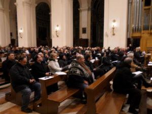 Partecipanti all'Elevazione musicale del Rossini Chamber Choir, dir. Simone Baiocchi.
