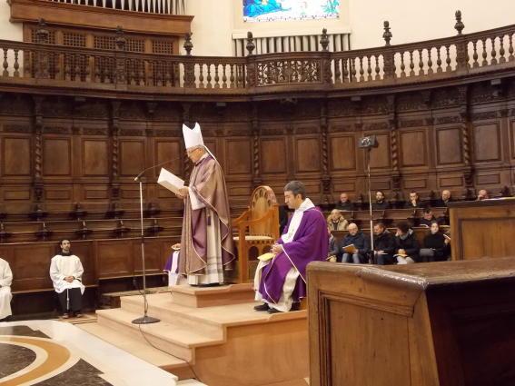 Celebrazione Eucaristica in S. Maria degli Angeli, presiede S.E. Mons. Giovanni Tani, Arcivescovo di Urbino - Urbania - S. Angelo in Vado.