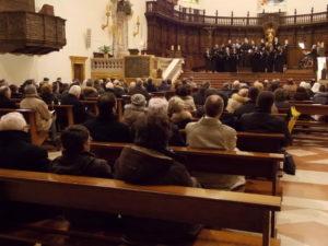 Partecipanti all'Elevazione musicale dei 'Laudesi Umbri' di Spoleto.