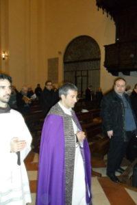 Celebrazione dei Vespri in S. Maria degli Angeli, presiede m° don Alberto Brunelli, Segretario Generale AISC; Organista della Cattedrale di Ravenna.