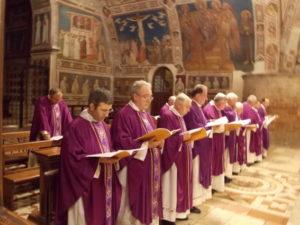 Celebrazione Eucaristica in S. Francesco, alcuni Concelebranti.
