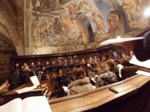 Celebrazione Eucaristica in S. Francesco, il Coro della Tre Giorni 2013.