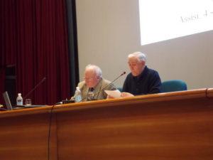 M° don Valentino Donella, Direttore del Bollettino Ceciliano, e il prof. Claudio Stucchi, Vicepresidente AISC.