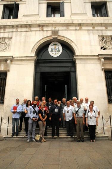 I partecipanti davanti al Palazzo Patriacale (25 luglio).