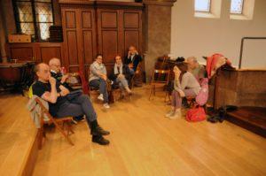 Alcuni partecipanti sulla cantoria dell'organo della Chiesa parrocchiale di Pradl (26 luglio).
