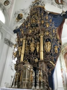 La Basilica abbaziale di Stams (26 luglio).