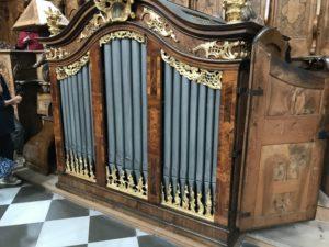 L'organo del coro Jager dell'Abbazia di Stams (26 luglio).