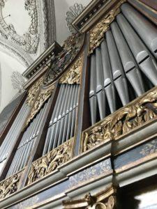L'organo Ebert della Hofkirche (27 luglio).