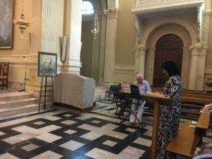 Il M° Letizia Butterin, docente del corso, e il prof. Stucchi all'organo.