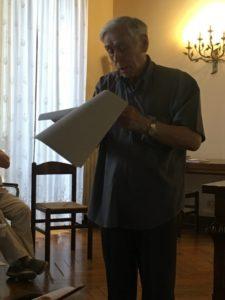 Il M° don Valentino Donella, docente del corso.