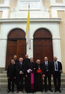 Castel Gandolfo - Alcuni membri del Consiglio Direttivo con il Card. D. Bartolucci